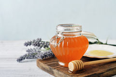 Honey in jar Royalty Free Stock Image