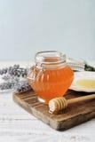 Honey in jar Stock Photo