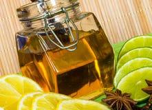Honey in the jar. Grapefruit Orange Lime Lemon Honey Stock Photography
