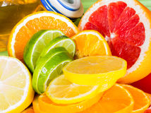 Honey in the jar. Grapefruit Orange Lime Lemon Honey Stock Image