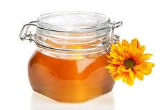 Honey jar, isolated Stock Images