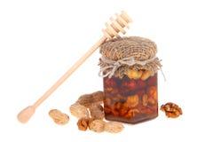 Honey in jar Royalty Free Stock Photography