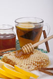 Honey in jar on a light background Stock Photography
