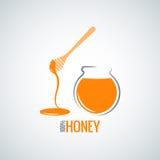 Honey jar pot glass background Royalty Free Stock Photography