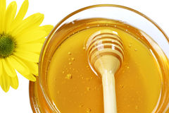 Honey jar Royalty Free Stock Images