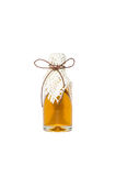 Honey jar, tied with a gold ribbon Stock Image
