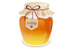 Honey jar Royalty Free Stock Photos