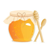Honey jar vector illustrations. Royalty Free Stock Image