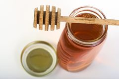 Honey jar,view from top Royalty Free Stock Photography