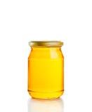 Honey jar on white background Royalty Free Stock Image
