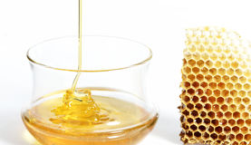 Honey jar Royalty Free Stock Photography