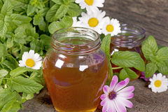 Honey in a jar Stock Photo