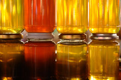 Honey jars Royalty Free Stock Photos