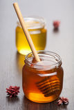Honey in jars Royalty Free Stock Image