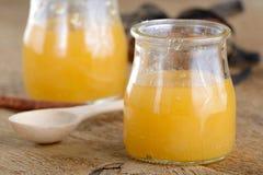 Honey in jars Stock Images