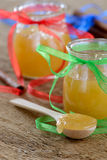 Honey in jars Royalty Free Stock Images