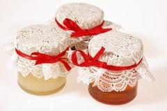 Honey jars Royalty Free Stock Photography