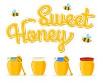 Honey jars Stock Photo