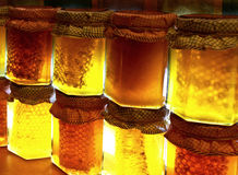 Honey jars Royalty Free Stock Images
