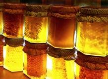 Honey jars Royalty Free Stock Images