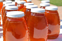 Honey jars Royalty Free Stock Photo