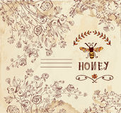 Honey label or background for organic products Royalty Free Stock Images