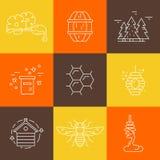 Honey Label Royalty Free Stock Image