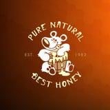 Honey label Royalty Free Stock Photography