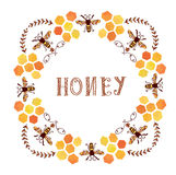 Honey label vintage style Royalty Free Stock Photos