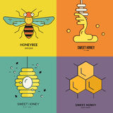 Honey Labels Stock Images