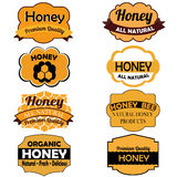 Honey labels Stock Image