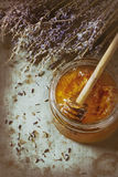 Honey and lavande Royalty Free Stock Image