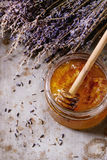 Honey and lavande Royalty Free Stock Photography