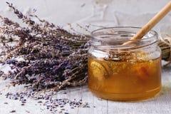 Honey and lavande Stock Image