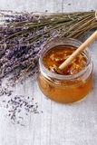 Honey and lavande Royalty Free Stock Photo