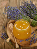 Honey with lavender Stock Photos