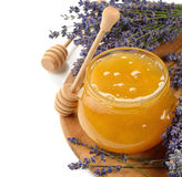 Honey with lavender Royalty Free Stock Images