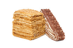 Honey and Layered  cake Stock Photography