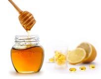 Honey and lemon Royalty Free Stock Photos