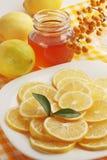 Honey and lemon Stock Image