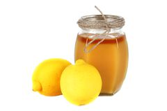 Honey and lemon Royalty Free Stock Images
