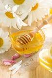 Honey with lemon Stock Images