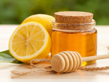 Honey Lemon Royalty-vrije Stock Afbeelding