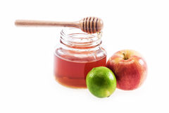 Honey lemon and apple Stock Images
