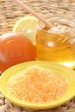 Honey and lemon bath Stock Images
