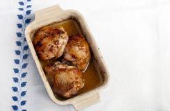 Honey and lemon chicken Stock Photo