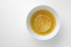Honey with lemon Stock Photography