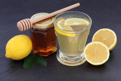 Honey and Lemon Drink Royalty Free Stock Photography