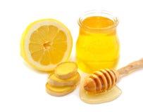 Honey, lemon, ginger Stock Photography