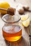 Honey lemon and ginger Stock Photos